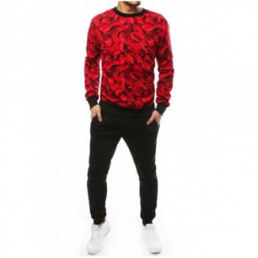 Kostiumas (Dres męski czerwono-czarny AX0256