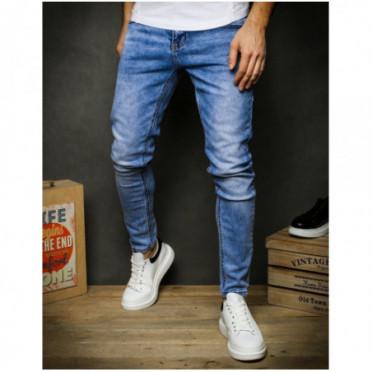 Kelnės (Spodnie męskie jeansowe niebieskie UX2393