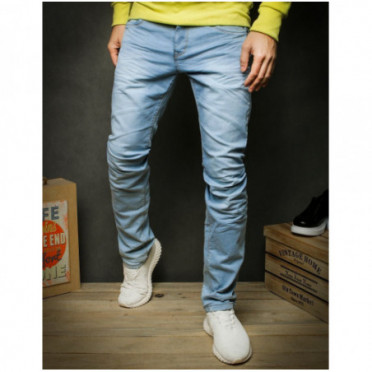 Kelnės (Spodnie jeansowe męskie niebieskie UX2427