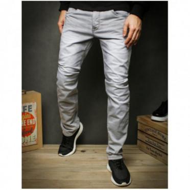 Kelnės (Spodnie jeansowe męskie jasnoszare UX2428