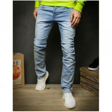 Kelnės (Spodnie jeansowe męskie niebieskie UX2430