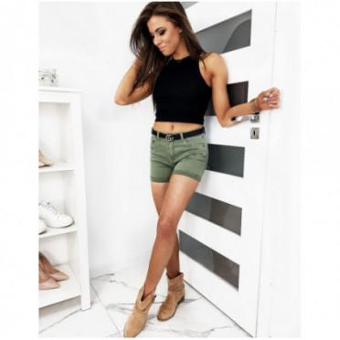 Sijonas (Spodenki damskie jeansowe KAMILE oliwkowe SY0115